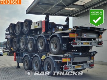 Van Hool Package of 4! ! 3 axles ADR 1x 20 ft 1x30 ft Liftachse - container/ wechselfahrgestell auflieger