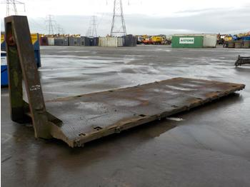 Roro Flat Bed to suit Hook Loader, Lorry - abrollcontainer